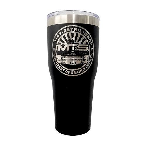MTS Circle Tall Black Tumbler