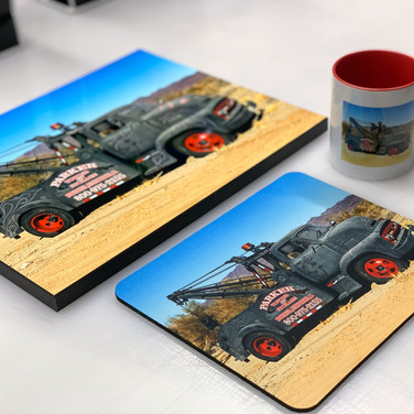 Custom Photo Plaque, Mousepad, and Mug Set