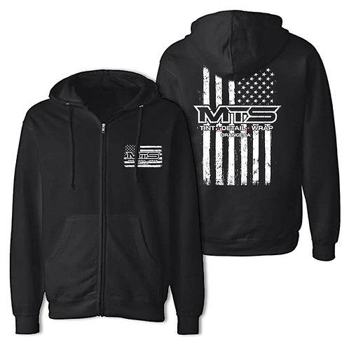 MTS Black Flag Zipper Hoodie