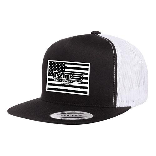 MTS Flag Black/White Trucker Hat