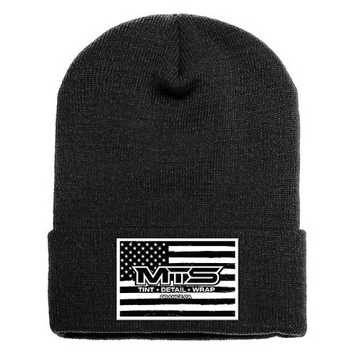 MTS Flag Black Cuff Beanie