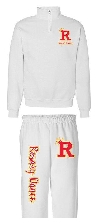 Heat Transfer Vinyl  Sweat Shirt & Matching Sweat Pant Set White