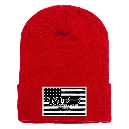 MTS Flag Red Cuff Beanie