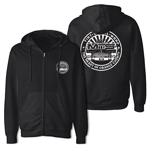MTS Black Circle Zipper Hoodie