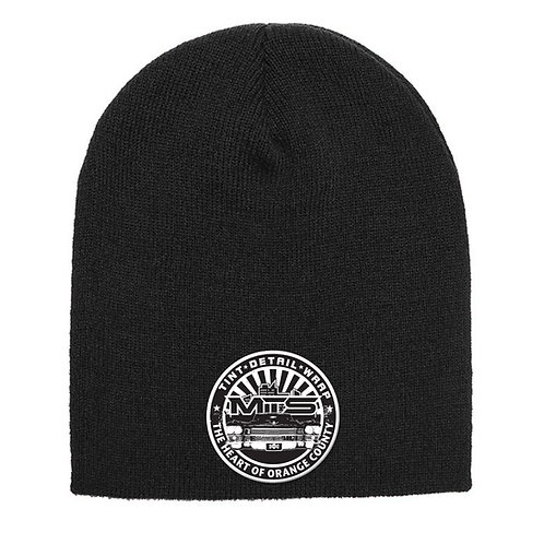 MTS Circle Black Beanie