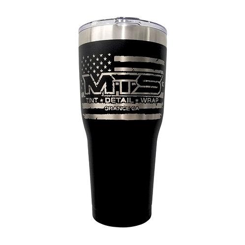 MTS Flag Tall Black Tumbler