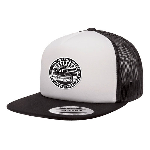 MTS Circle White/Black Foam Trucker Hat