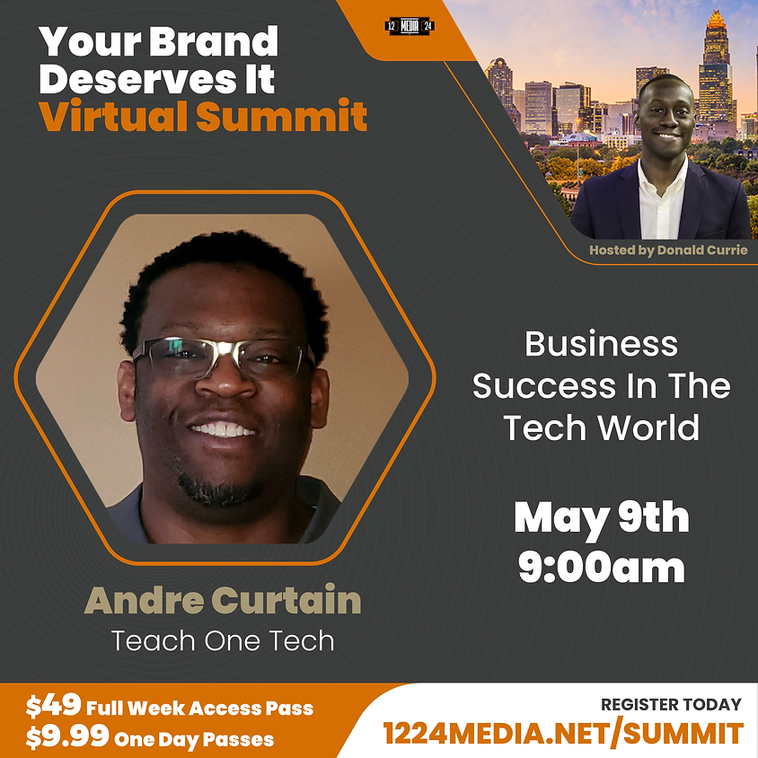 """Day Pass: """"Business Survival In The Tech World"""" - Andre Curtain & Patrick Bentley"""