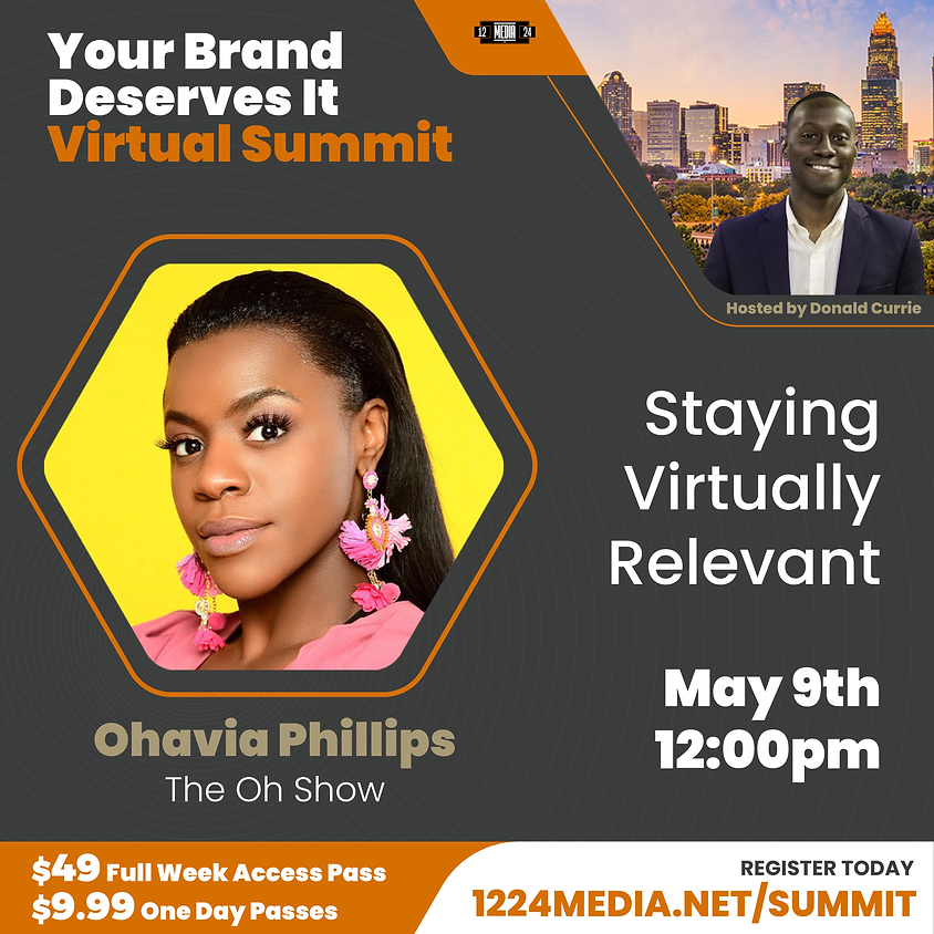 """Day Pass: """"The Social Cycle: Staying Virtually Relevant"""" - Ohavia Phillips & Donald Currie"""