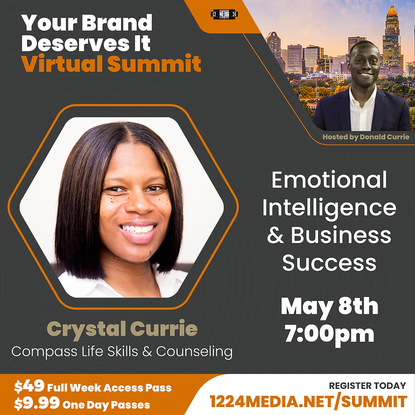 """Day Pass: """"Emotional Intelligence & Business Success"""" - Crystal Currie"""