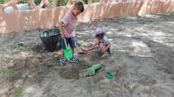 Jugando en la arena