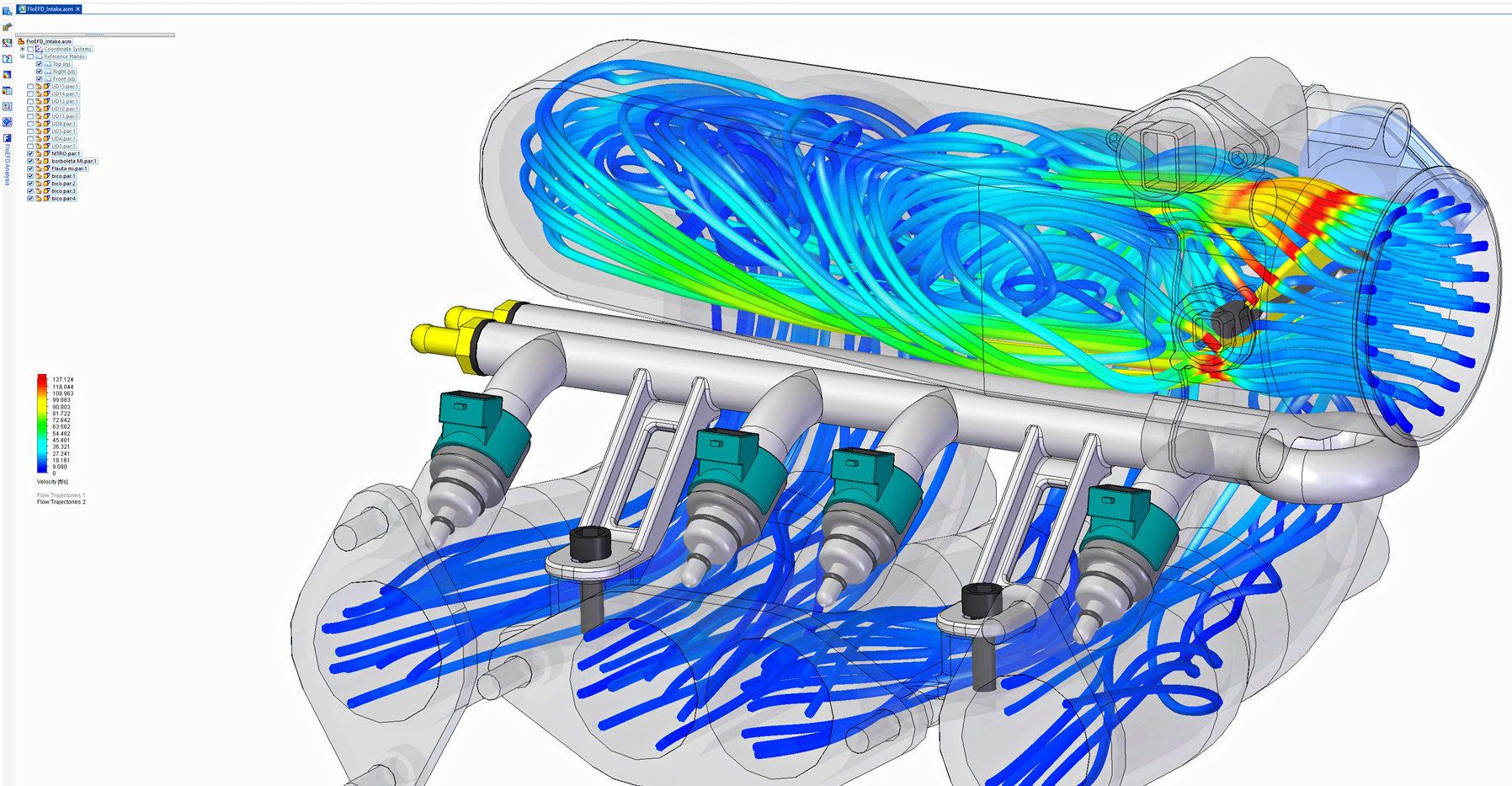 Solid Edge FloEFD para simulación de fluídos.