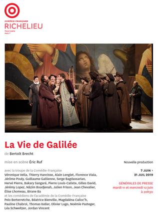LA VIE DE GALILEE, de Brecht