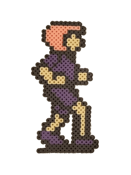 George (Purple) - Perler