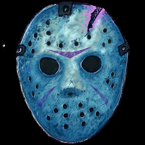 Jason Voorhees Mask Fridge Magnet