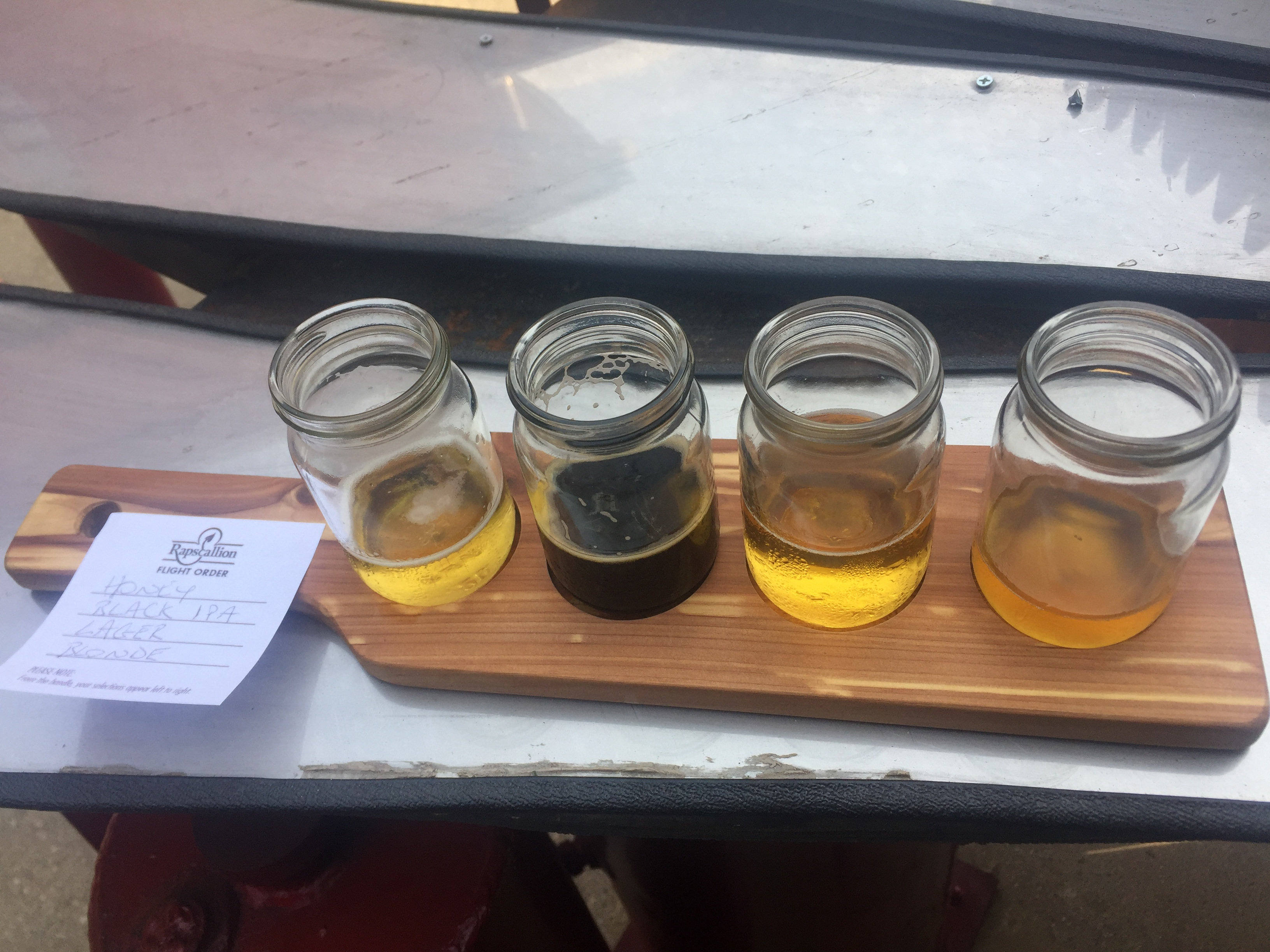 Taster at Rapscallion brewery