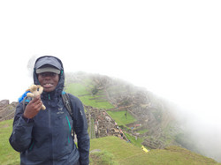 Wet in Machu Picchu