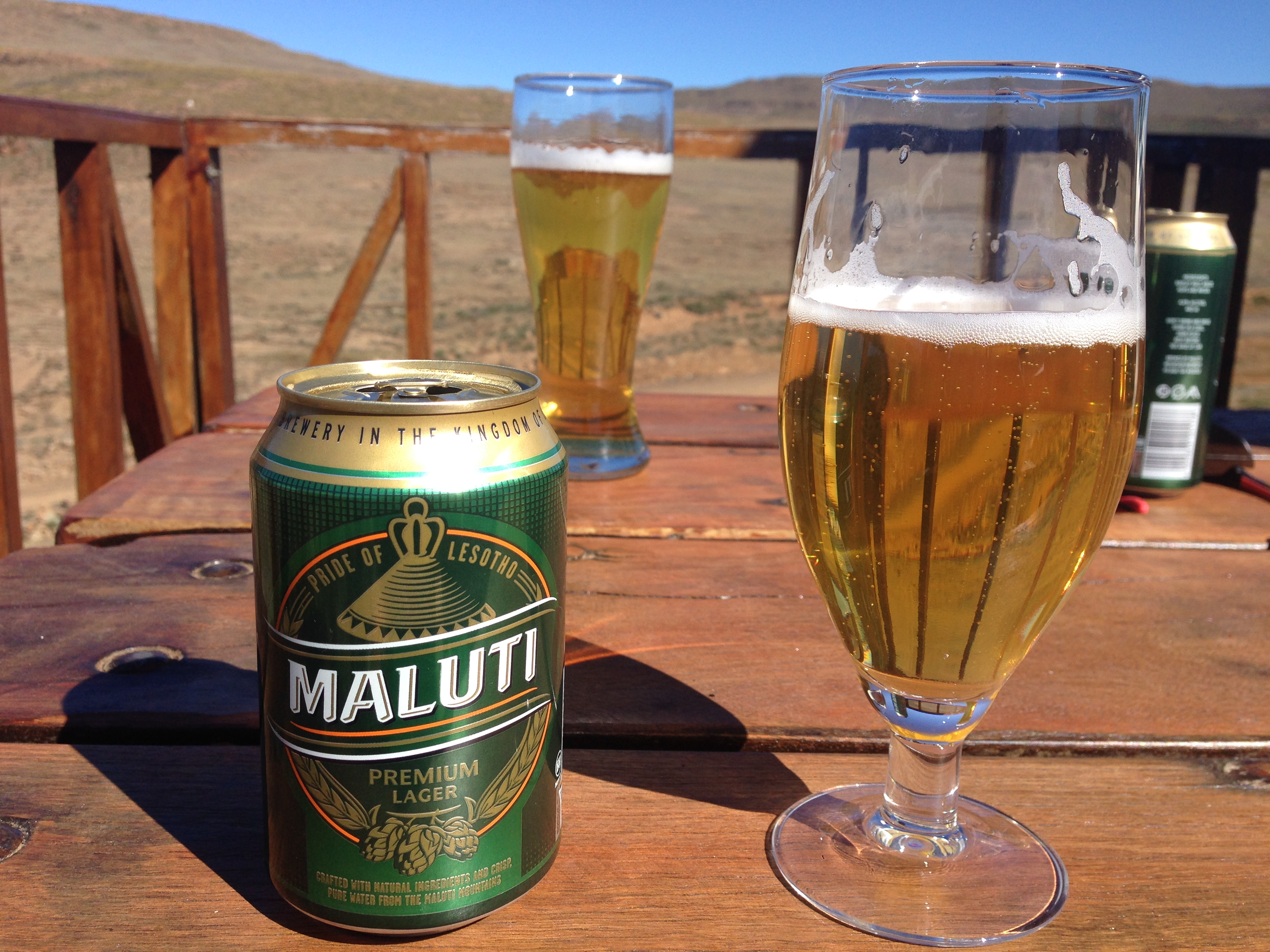 Beer at Sani Pass