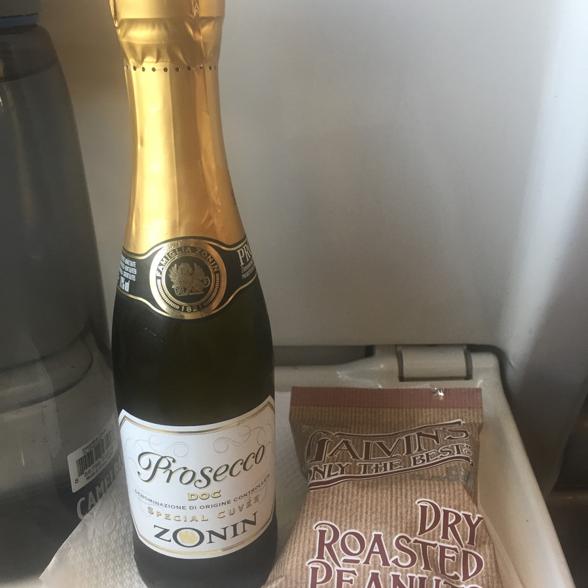 Champagne on the train home