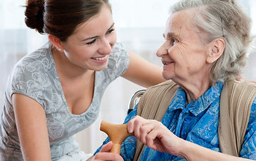 Personal care manager with member of Protea Home care