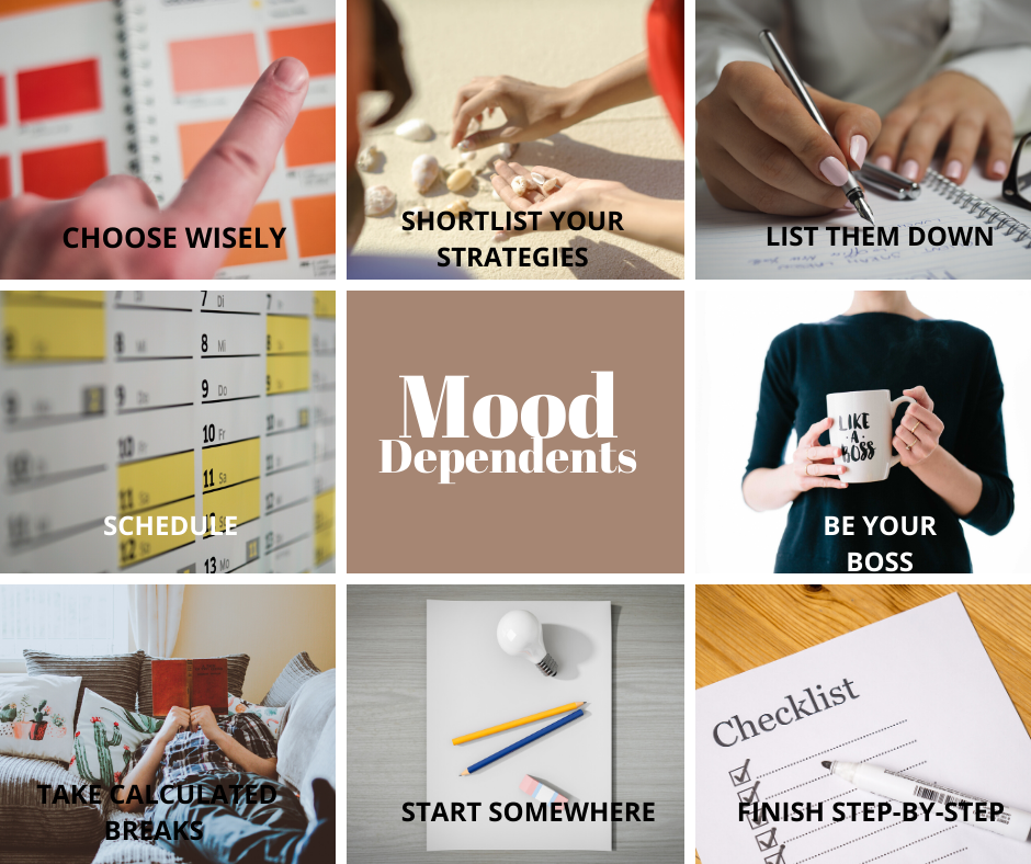Here are some practical productivity tips for those who are highly driven by their mood swings.