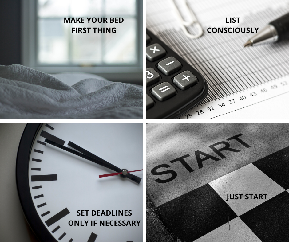 Productivity is not a skill privy to some; therefore, here are some realistic and practical tips for those with a lack of motivation or with crazy bouts of laziness.