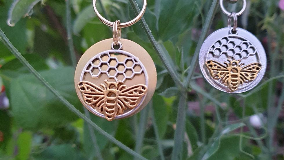 Bumble bee tag/keyring