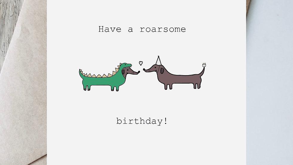 Digital roarsome birthday