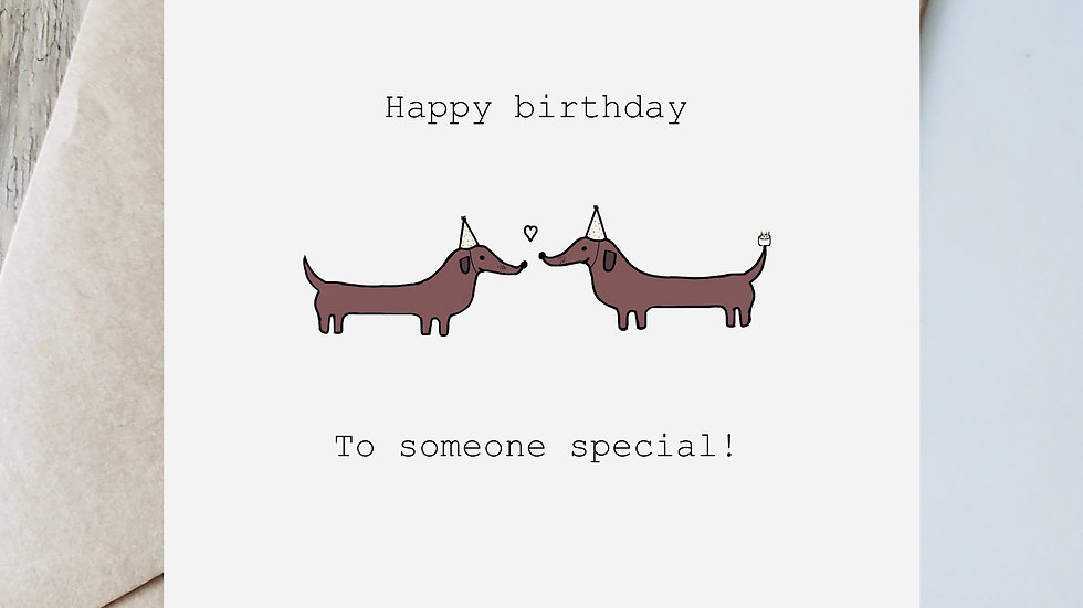 Digital birthday someone special