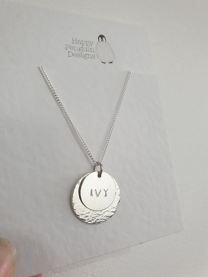 Sterling silver double disc