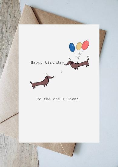 Digital birthday balloon to the one I love
