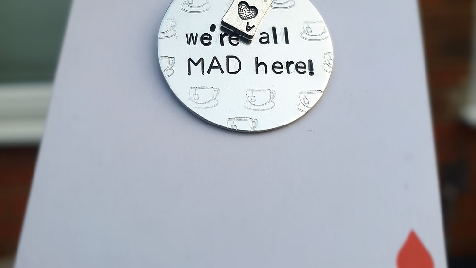 We're all mad here Alice in wonderland