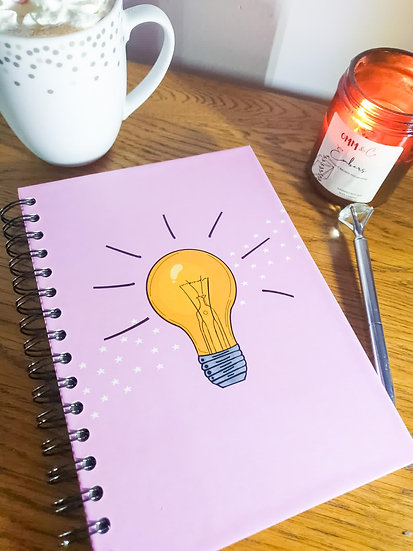 A5 notebook - lightbulb