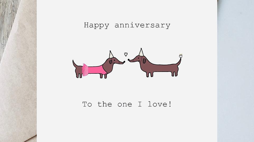 Ballerina anniversary to the one I love