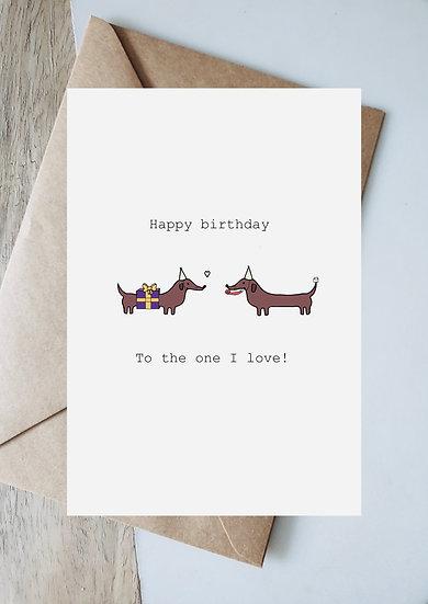 Digital birthday present to the one I love