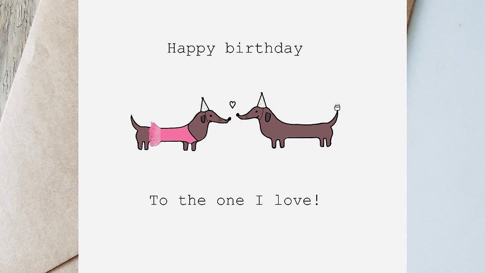 Digital ballerina birthday to the one I love