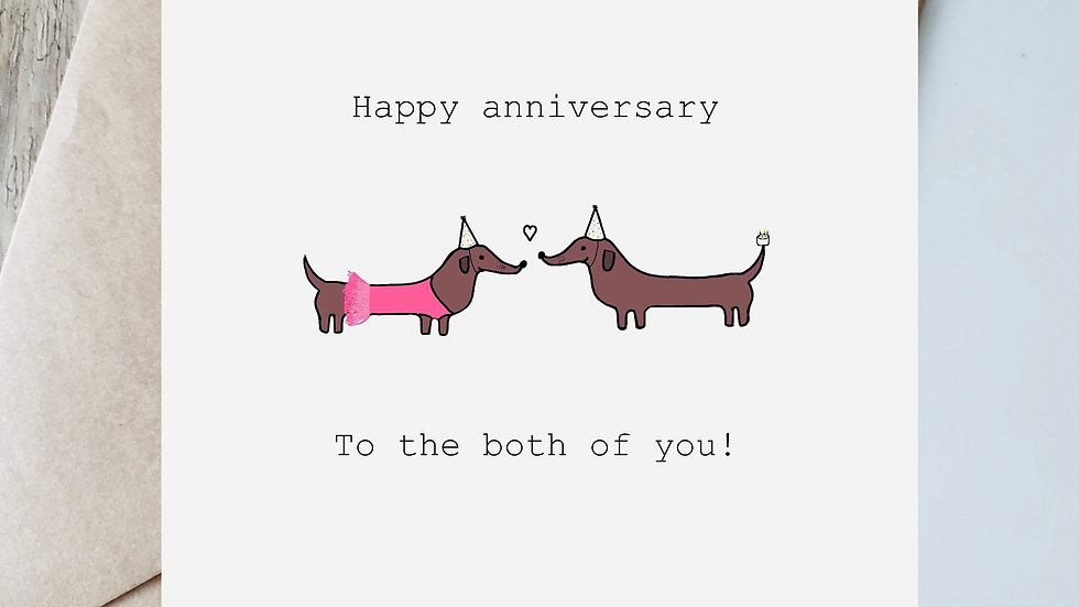 Digital Anniversary ballerina to the both of you