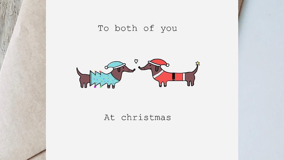 To both of you at Christmas