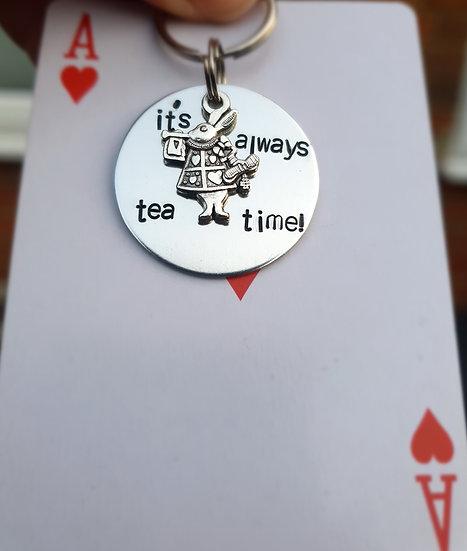 It's always tea time Alice in wonderland
