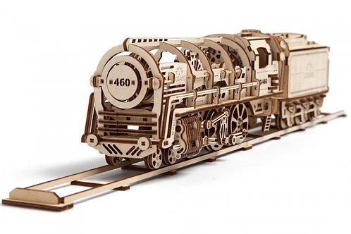 UGEARS UG70012 - Mechanical Steam Locomotive with Tender