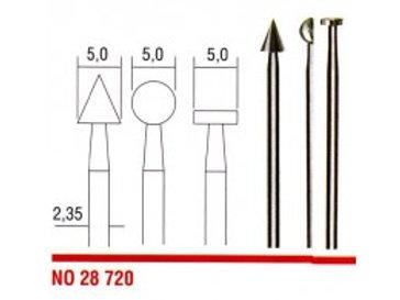 Roterende filer 5mm nr 28720