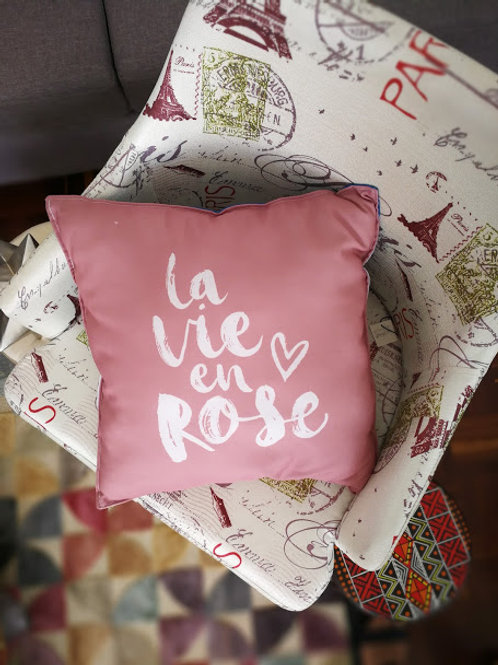 Cojín la vie en rose