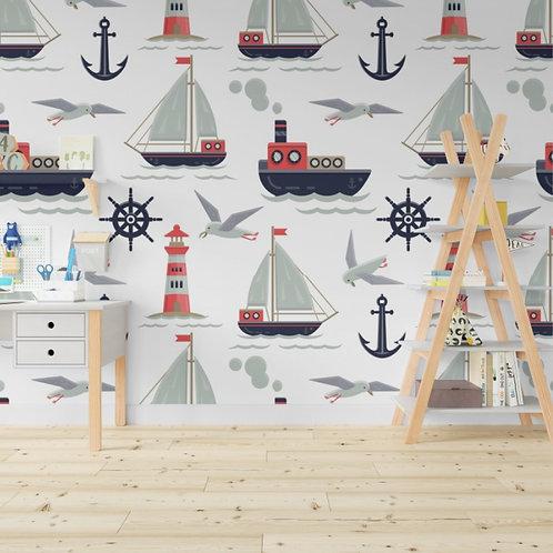 tapiz barcos