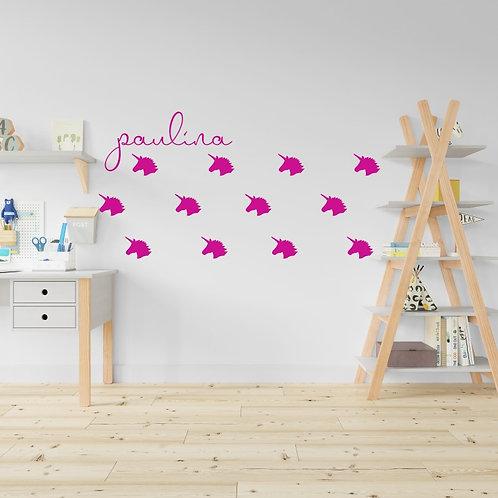 Wall decals unicornios