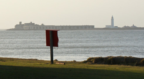 19. Hurst Castle: 1544. View from Isle of Wight.
