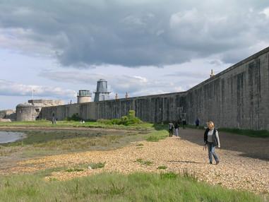 21. Hurst Castle: 1860 extension from landside.