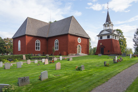 29. Sunborn Church, Bell-tower and graveyard.