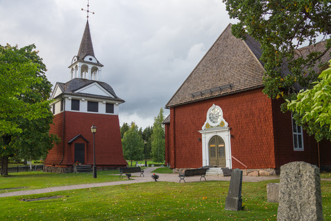 27. Sunborn Church and bell-tower.