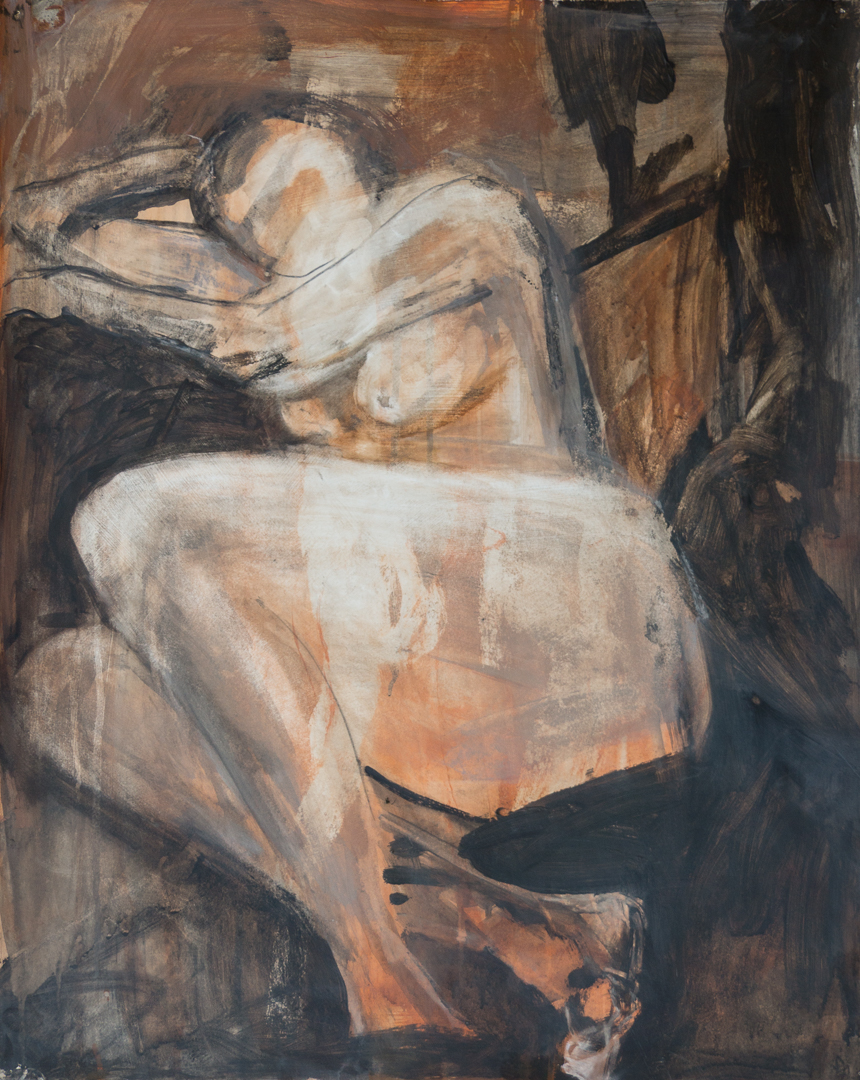 2017, Acrylic on paper, Figurative Art,