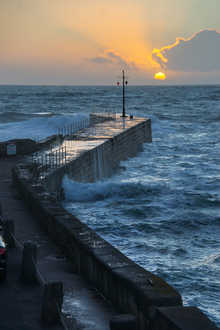 17. New Year's Sunset - Porthleven Pier.